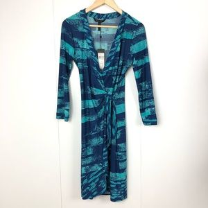 BCBGMaxAzria NWT Wrap Dress Blue Medium